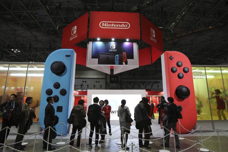 Experiência com console Switch da Nintendo em Tóquio, Japão
