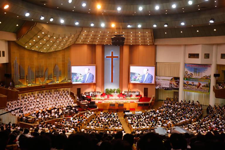 ** ESPECIAL ONLINE *** Yoido Full Gospel Church, the largest megachurch in the world. Credit Pascal Deloche / Godong / Getty Images DIREITOS RESERVADOS. NÃO PUBLICAR SEM AUTORIZAÇÃO DO DETENTOR DOS DIREITOS AUTORAIS E DE IMAGEMM)