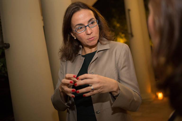 A consultora Ilona Becskeházy no jantar pela educação promovido pelo cônsul geral de Portugal, Paulo Lourenço, no Consulado de Portugal em São Paulo, em 2017