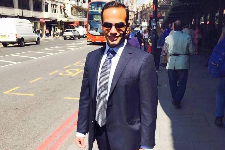 George Papadopoulos, em rua de Londres