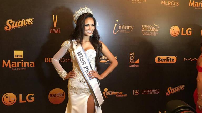 Romina Lozano Saldaña foi coroada como a Miss Peru 2018