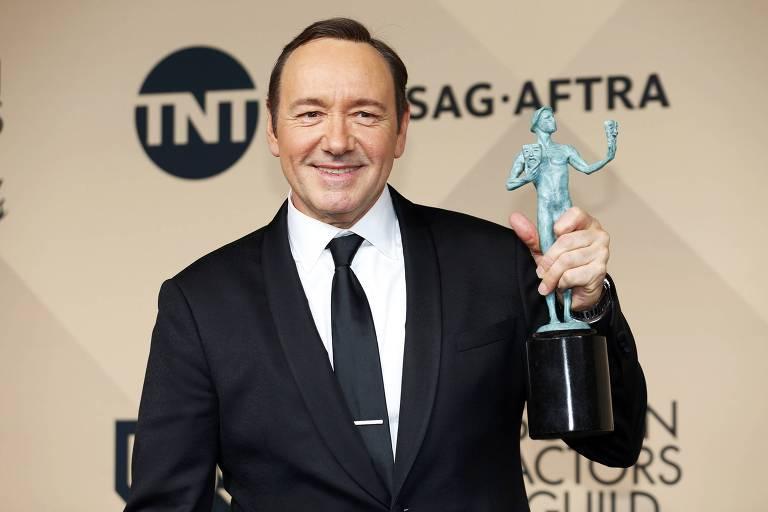 Kevin Spacey recebeu o pr�mio do Sindicato dos Atores pela atua��o em 'House of Cards', em 2016