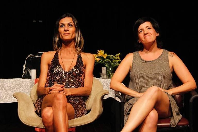 A atriz Renata Carvalho e a diretora Natalia Mallo, da pe�a 'O Evangelho Segundo Jesus, Rainha do C�u