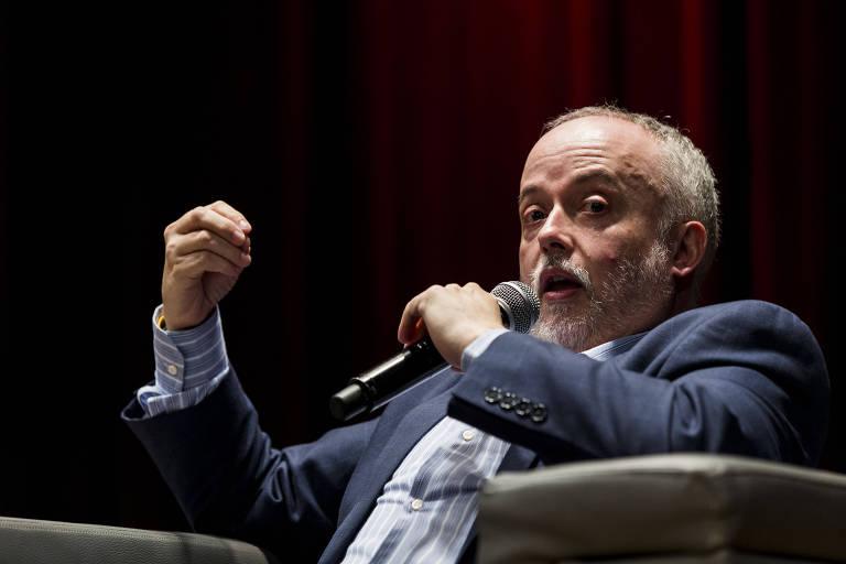 O procurador Carlos Fernando dos Santos Lima no seminário sobre Ética, Mídia e Transparência no auditório do Insper em São Paulo