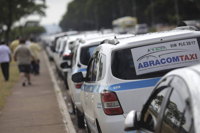 Protestos Uber em Brasília