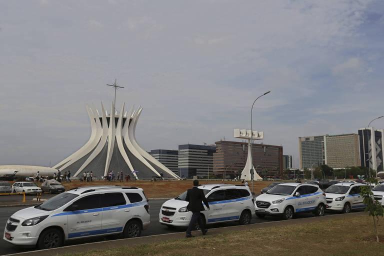 Protestos Uber em Bras�lia
