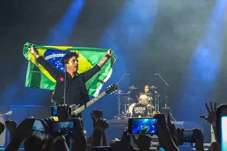 Show do Green Day, na quarta (1º), no Rio de Janeiro