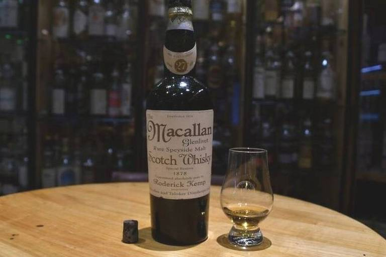 A dose do uísque Macallan, datado de 1838, custou R$ 32 mil, depois, descobriu-se que a bebida era falsa