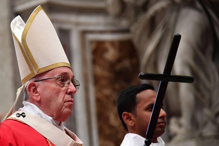 O papa Francisco realiza cerim�nia no Vaticano
