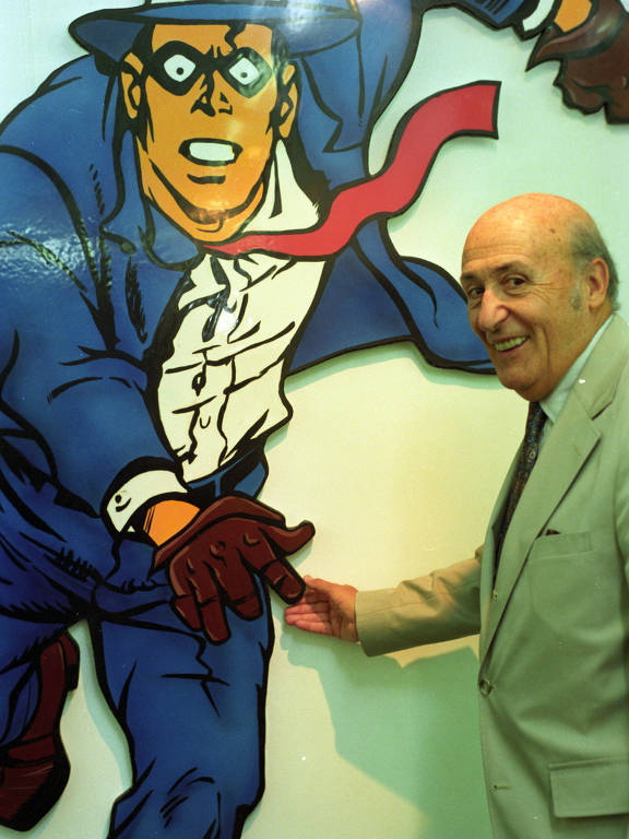 O artista gr�fico Will Eisner, criador do detetive Spirit