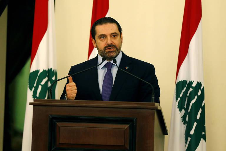 O premi� liban�s, Saad Hariri