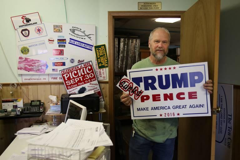 Eleitores de Trump, um ano depois