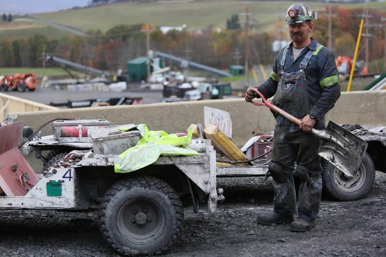 Sean Petree, 43, superintendente da mina de Acosta, afirma que a retomada da mineração na região desde o início do governo Trump
