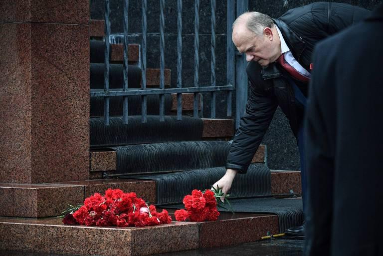 Comemoração do 100º aniversário da Revolução Bolchevique em Moscou