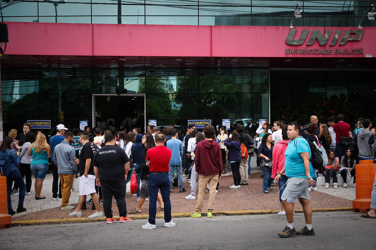 Prova do Enem na Unip da rua Vergueiro, em São Paulo