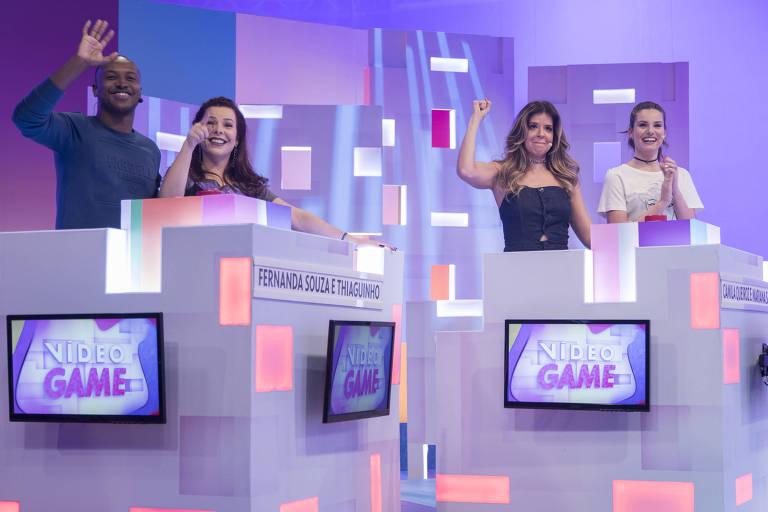 Fernanda Souza e Thiaguinho enfrentam Camila Queiroz e Mariana Santos na volta do Video Game