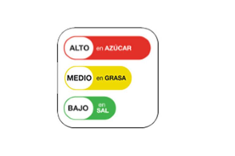 Exemplo de informação aplicada nos rótulos no Equador