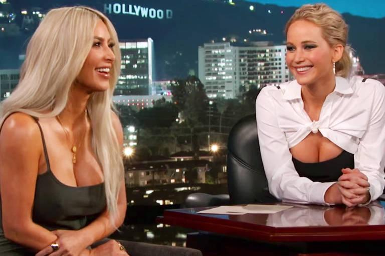 Jennifer Lawrence revela que ficou nua e pediu para ser vestida por Kim Kardashian e Kanye West