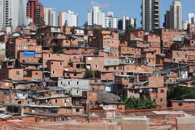 Favela Paraisópolis, na zona sul de São Paulo