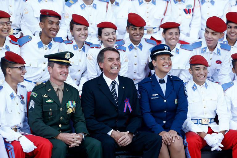 Resultado de imagem para bolsonaro colégio militar foto pedro ladeira