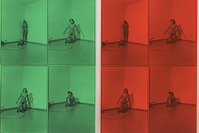 Detalhe da obra 'Ritmo 4' (1974/78) da artista Marina Abramovic