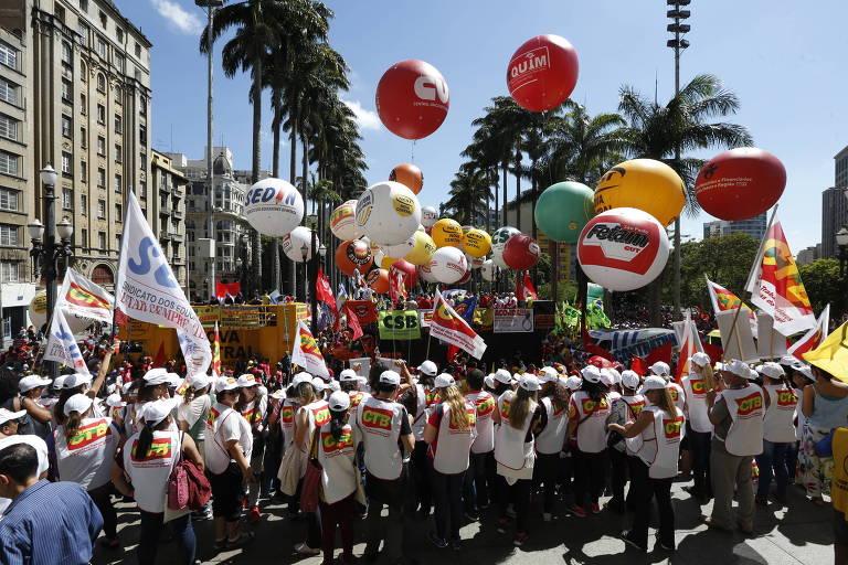 Protesto contra as Reformas Trabalhista e da Previd�ncia
