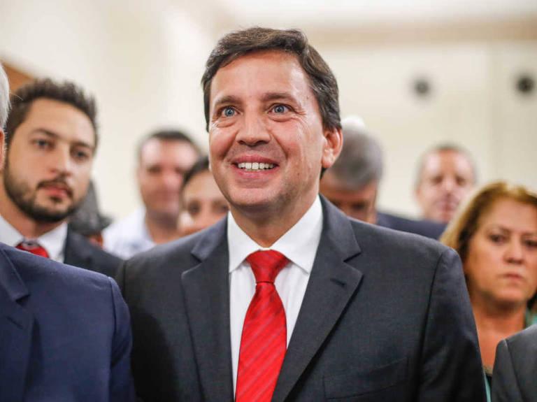O secretário de estado de Alckmin, Floriano Pesaro