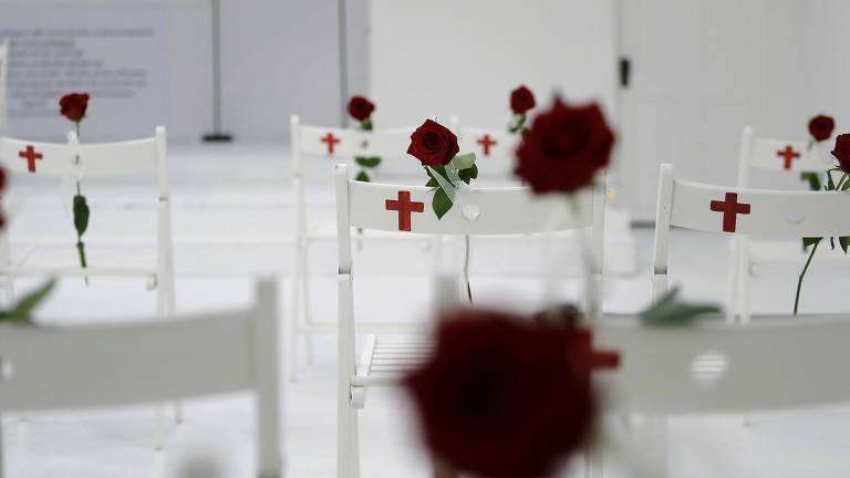 Homenagem às vítimas de massacre no Texas