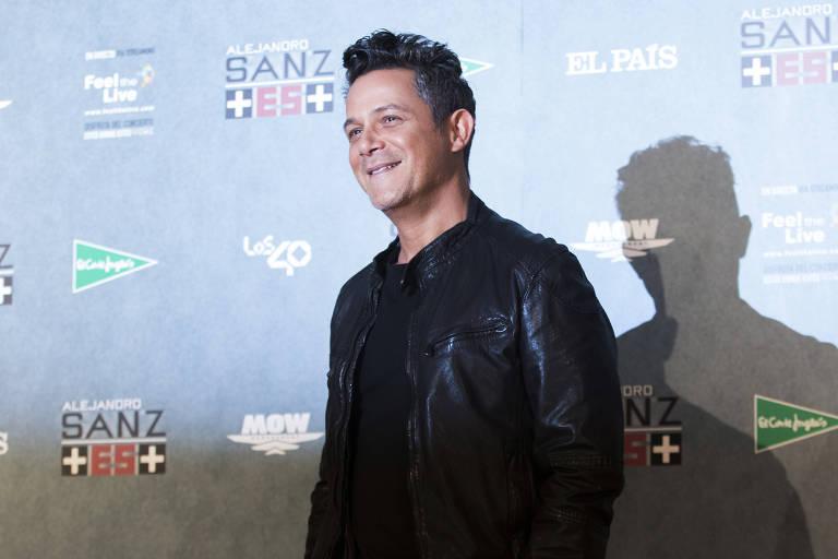 O cantor espanhol Alejandro Sanz