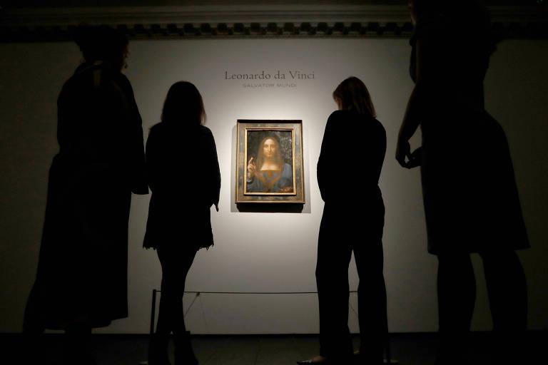 Veja a obra 'Salvator Mundi', de Leonardo Da Vinci