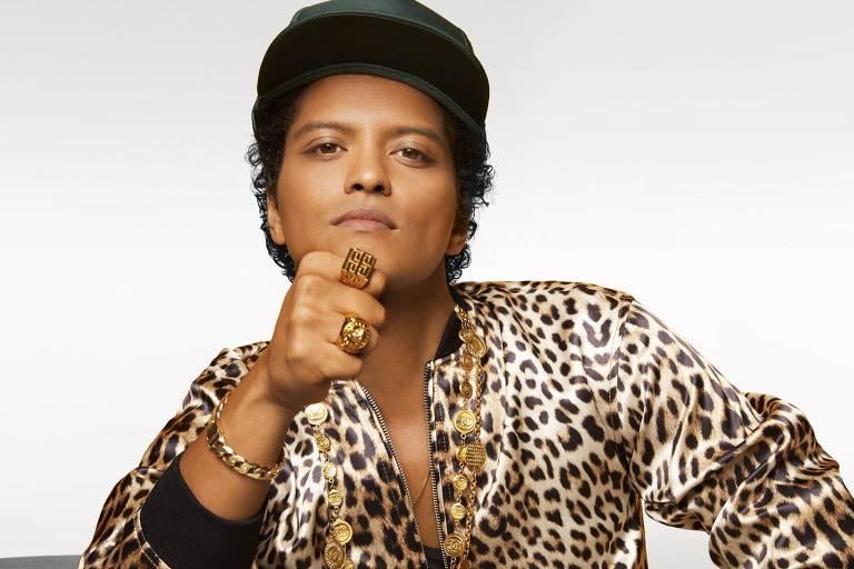 Fenômeno do pop mundial, o cantor Bruno Mars faz dois shows em São Paulo