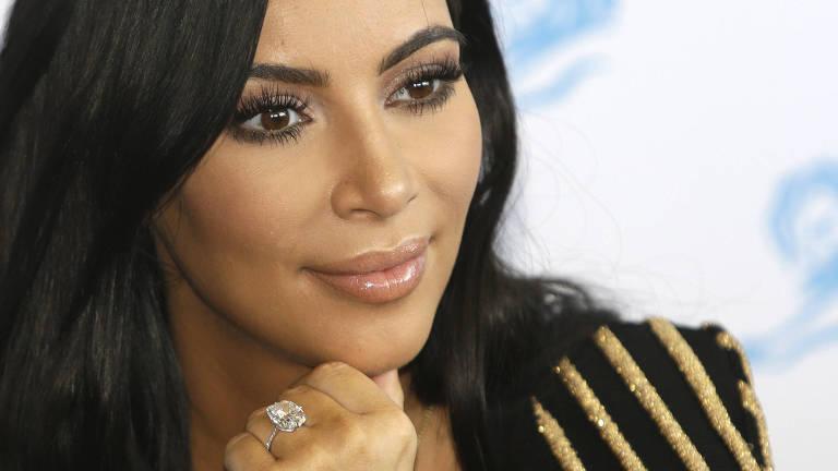 A estrela de TV Kim Kardashian no Festival de Cannes em 2015