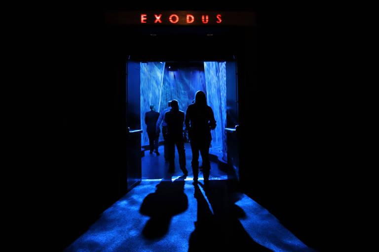 Entrada para a sala sobre o �xodo, segundo livro da B�bl�a, no museu sobre o livro em Washington
