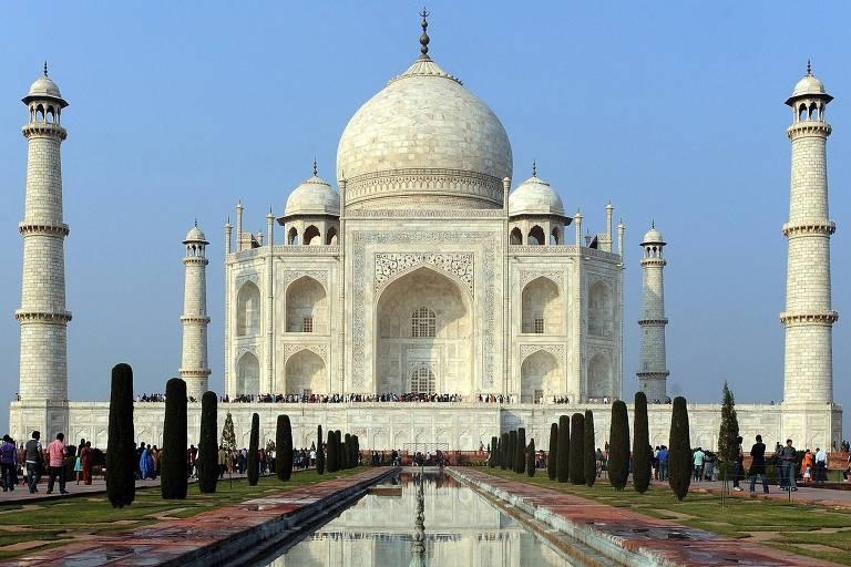 Taj Mahal, maior monumento da cultura indiana