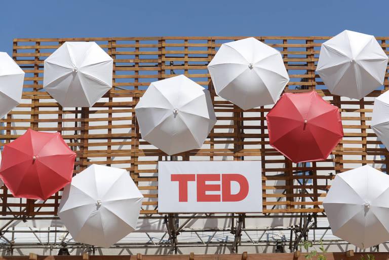 Decoração do TEDGlobal no Rio, em 2014; diretores da entidade são acusados de encobrir abuso sexual
