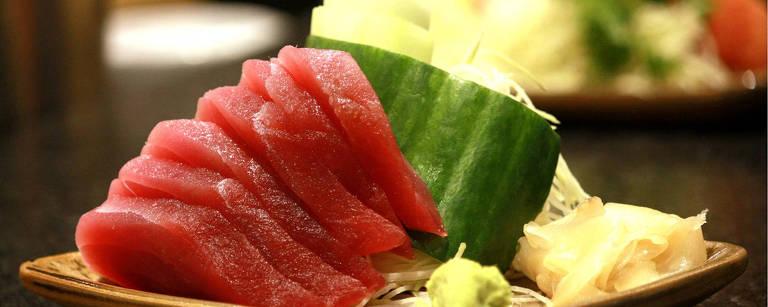 Sashimi de atum servido no Nagairô, novo restaurante do Allianz Parque – Divulgação