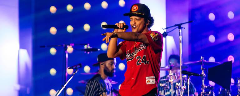 Bruno Mars no sábado, na praça da Apoteose, no Rio – Florent Dechard/Divulgação