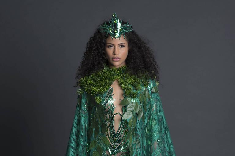 Avaliado em R$ 30 mil, traje típico de Miss Brasil homenageia Amazônia