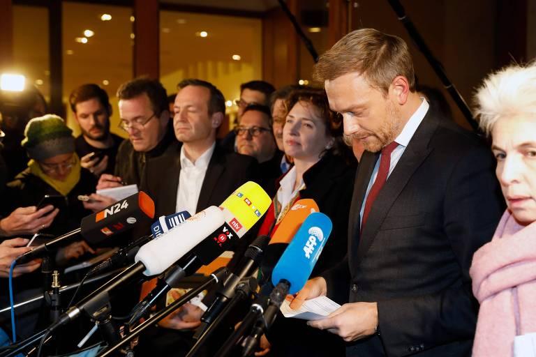O líder do FDP, Christian Lindner, abandona negociações em Berlim