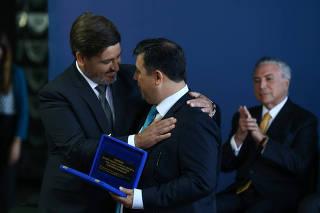 Cerimônia de transmissão de cargo do novo diretor-geral da Polícia Federal, Fernando Segóvia