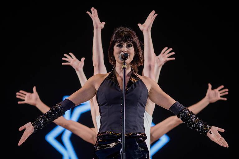 Fernanda Abreu se apresenta no palco Sunset no Rock In Rio 2017