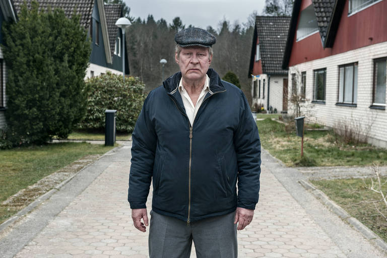 """""""Um Homem Chamado Ove"""", com Rolf Lassgard, Bahar Pars e Filip Berg"""