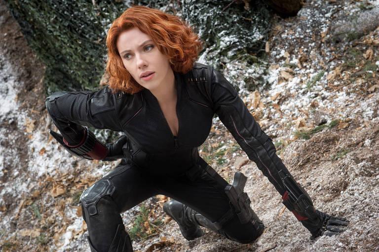 """Scarlett Johansson como Viúva Negra em  """"Os Vingadores - A Era de Ultron"""""""