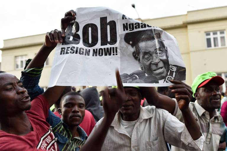 A ren�ncia de Mugabe