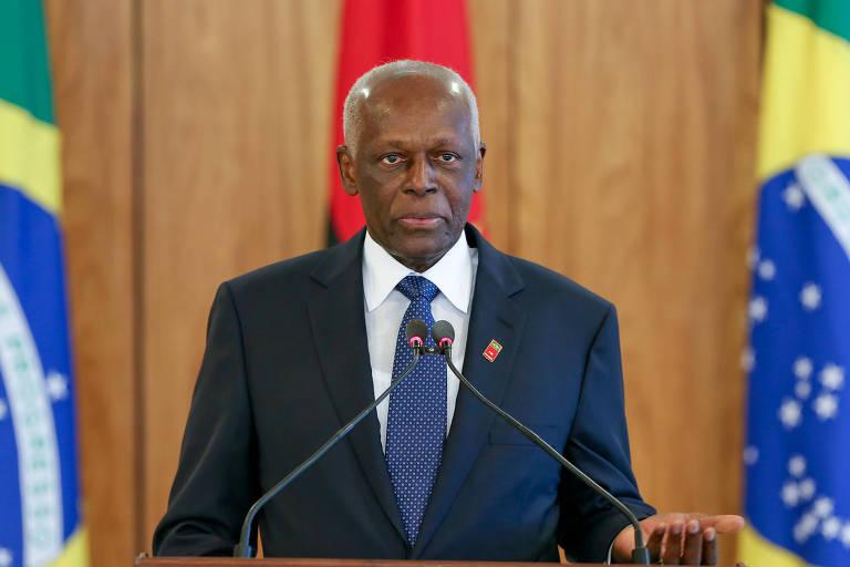 O José Eduardo dos Santos, de Angola, durante visita ao Brasil em 2014