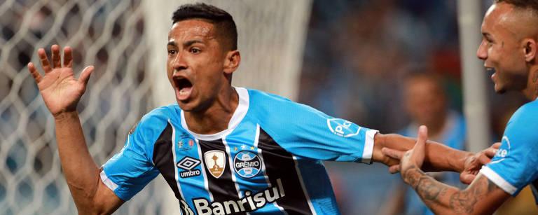 Cícero comemora gol da vitória do Grêmio – Diego Vara/Reuters