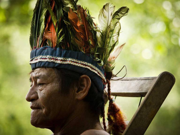 O cacique Faride Mariano de Lima, da aldeia guarani-caiová de Laranjeira Ñander – Eduardo Knapp - 31.out.201