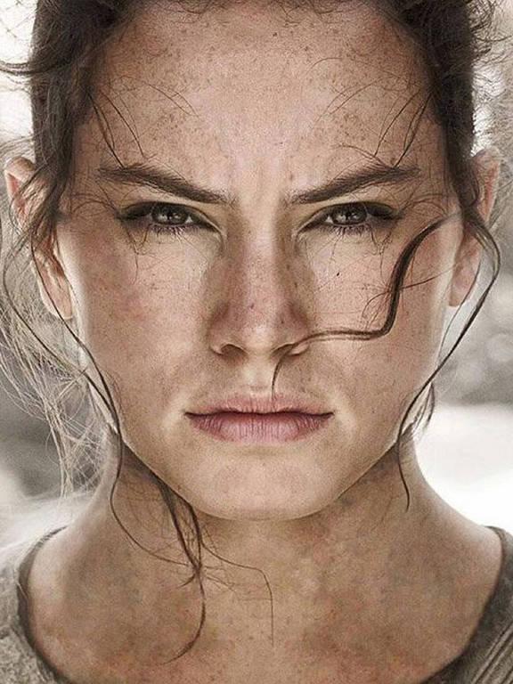 """Daisy Ridley como Rey em """"Star Wars - O Despertar da Força"""""""