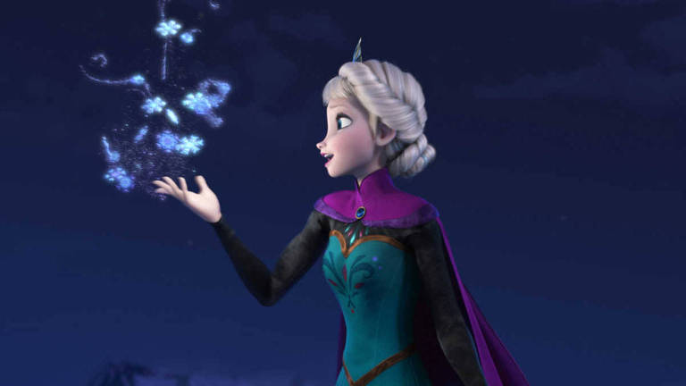 """Elsa, a rainha da neve, em cena do filme de animação """"Frozen"""""""