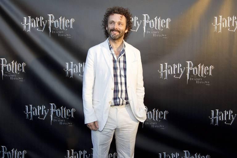 """O ator Michael Sheen na première de """"Harry Potter e As Relíquias da Morte - Parte """", em 2011"""